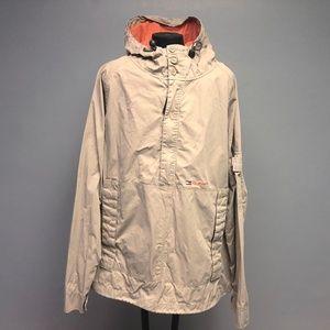 Y2K Tommy Hilfiger Khaki 1/4 Zip Hooded Jacket
